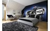 Fotobehang Papier Politieauto | Zwart | 368x254cm
