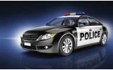 Fotobehang Vlies | Politieauto | Zwart | 368x254cm (bxh)