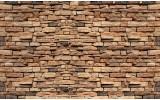 Fotobehang Vlies | Stenen, Muur | Bruin | 368x254cm (bxh)