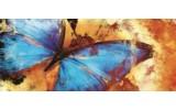 Fotobehang Vlinder, Abstract | Blauw | 250x104cm