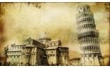 Fotobehang Pisa | Sepia | 416x254