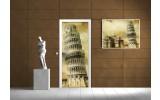 Deursticker Muursticker Pisa, Italië | Sepia | 91x211cm