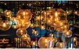 Fotobehang Vlies | Lampen | Geel, Bruin | 368x254cm (bxh)