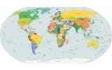 Fotobehang Wereldkaart | Geel |
