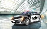 Fotobehang Vlies | Politieauto | Grijs | 368x254cm (bxh)