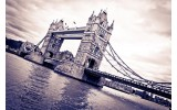 Fotobehang London, Brug | Grijs | 104x70,5cm