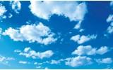 Fotobehang Lucht, Zon | Blauw | 416x254