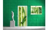 Deursticker Muursticker Bamboe, Natuur | Groen | 91x211cm