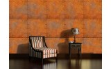 Fotobehang Papier Metaallook | Bruin, Oranje | 368x254cm