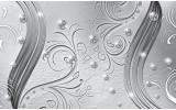 Fotobehang Vlies | Abstract | Zilver | 368x254cm (bxh)