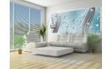 Fotobehang Abstract | Blauw, Zilver | 250x104cm