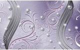 Fotobehang Abstract | Paars, Zilver | 312x219cm