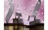 Fotobehang Papier Abstract | Roze, Zilver | 254x184cm