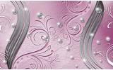 Fotobehang Vlies | Abstract | Roze, Zilver | 368x254cm (bxh)