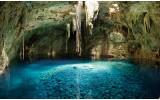Fotobehang Natuur | Blauw, Groen | 104x70,5cm