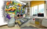 Fotobehang Vlies | Graffiti | Geel, Groen | 368x254cm (bxh)