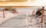 Fotobehang Strand | Geel | 208x146cm