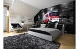 Fotobehang Brandweerauto | Zwart, Rood | 416x254
