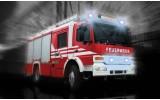 Fotobehang Vlies   Brandweerauto   Zwart, Rood   368x254cm (bxh)