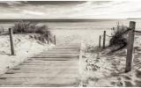 Fotobehang Vlies   Strand   Grijs   368x254cm (bxh)