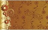 Fotobehang Papier Bloemen | Goud, Bruin | 368x254cm