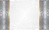 Fotobehang Papier Klassiek | Zilver, Wit | 368x254cm