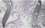 Fotobehang Papier Modern | Zilver, Paars | 368x254cm