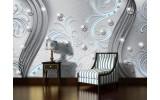 Fotobehang Modern | Zilver, Blauw | 104x70,5cm