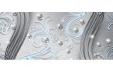 Fotobehang Modern | Zilver, Blauw | 250x104cm