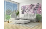 Fotobehang Modern | Zilver, Paars | 250x104cm