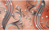 Fotobehang Papier Modern | Zilver, Oranje | 368x254cm