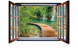 Fotobehang Natuur, Waterval | Groen |