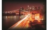Fotobehang Papier New York | Oranje | 254x184cm