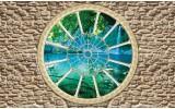 Fotobehang Vlies   Stenen, Natuur   Groen   368x254cm (bxh)
