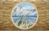 Fotobehang Vlies | Muur, Zee | Blauw | 368x254cm (bxh)