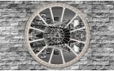 Fotobehang New York, Muur | Grijs | 104x70,5cm