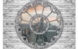 Fotobehang Muur, Stad | Grijs | 104x70,5cm