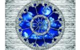 Fotobehang Vlies | Muur, Nacht | Blauw | 368x254cm (bxh)