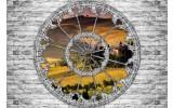Fotobehang Vlies | Muur, Natuur | Grijs | 368x254cm (bxh)