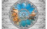 Fotobehang Muur, Venetië | Grijs | 208x146cm