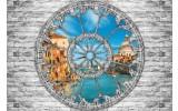 Fotobehang Vlies   Muur, Venetië   Grijs   368x254cm (bxh)