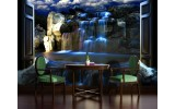 Fotobehang Natuur, Waterval | Blauw | 416x254
