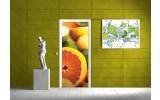 Fotobehang Fruit | Geel | 91x211cm