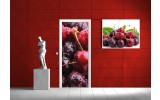 Fotobehang Fruit | Rood | 91x211cm