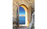 Fotobehang Zee | Blauw, Geel | 206x275cm