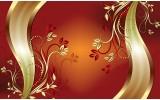 Fotobehang Papier Klassiek, Bloemen | Oranje | 368x254cm