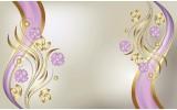 Fotobehang Vlies | Klassiek, Bloemen | Paars | 368x254cm (bxh)