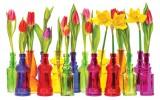 Fotobehang Bloemen, Tulpen | Rood | 416x254