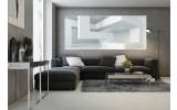 Fotobehang 3D, Modern   Wit   250x104cm