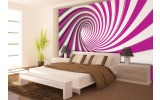 Fotobehang Design | Roze, Paars | 208x146cm